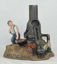 elf cast iron mechanical banks - Google Search