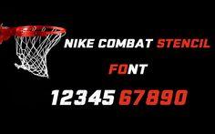 Nike Combat Stencil Sports Font
