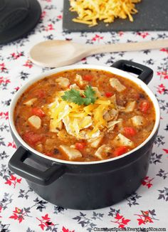 Tex-Mex Chicken and Rice Soup #recipes