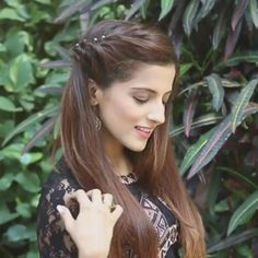 Front Hair Styles, Medium Hair Styles, Curly Hair Styles, Easy Hairstyles For Long Hair, Twist Hairstyles, Indian Wedding Hairstyles, Hairdos, Hair Style Vedio, Hair Tutorials For Medium Hair