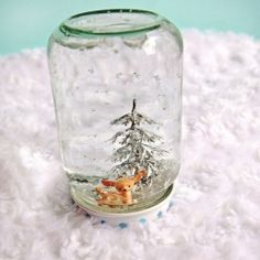 Make some fun snowglobes with your family this year.