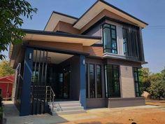 2 storey house 03 2 Storey House Design, Small House Design, Loft Interior Design, Exterior Design, Modern House Philippines, Loft Plan, Thai House, Duplex House Plans, Loft Interiors