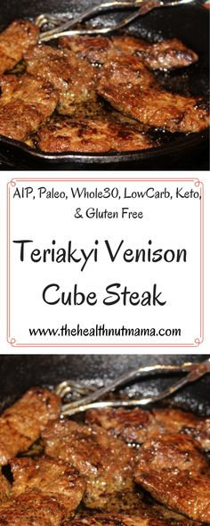 Teriyaki Venison Cube Steak is so easy to make & so good the whole family will l. Teriyaki Venison Cube Steak is so easy to make & so good the whole family will love. Venison aka deer meat is so nut Deer Steak Recipes, Deer Recipes, Paleo Recipes, Cooking Recipes, Recipes Using Venison Steak, Recipes With Cube Steak, Healthy Cube Steak Recipes, Venison Meat, Leche Flan
