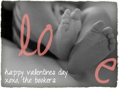 valentines card with a baby photo.