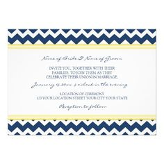 Discount DealsWedding Invitations Lemon Blue Chevronwe are given they also recommend where is the best to buy