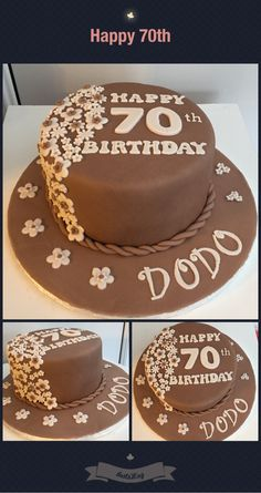 Chocolate 70th cake