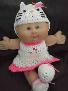 Clothes For 14 Inch Cabbage Patch Doll by AdorableAppliques4U, $13.00
