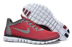 Wholesale Nike Free 3.0 V2 Men's Anti Fur Shoes Wine Red Gray UK Discount Online