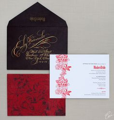 i just like the envelope....  Modern Bride Dinner Party - Event Invitations - Corporate - Ceci Event - Ceci New York