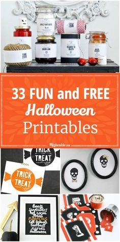 33 FUN and FREE Halloween Printables