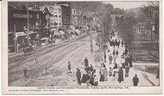 Antique Arkansas Postcard Hot Springs AR Central Ave Promenade Looking North | eBay