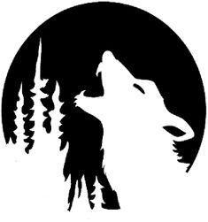 halloween wolves pics | Halloween Howling Wolf Stencil – Free Pumpkin Carving Stencil ...