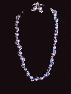 Swarovski Crystal and Pearl Necklace and Earrings