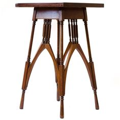 Rare Rosewood and Mahogany Arts and Crafts Sidetable Designed by M H Ballie Sc | From a unique collection of antique and modern side tables at https://www.1stdibs.com/furniture/tables/side-tables/