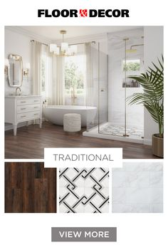 No matter your style, transform your space with the perfect product combinations.  Grey Bathroom Floor, Master Bathroom Shower, Master Bath Remodel, Bathroom Design Luxury, Garage, Dream Home Design, Floor Decor, Bathroom Inspiration, Space