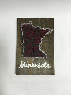 Minnesota String Art by MegsMNCrafts on Etsy