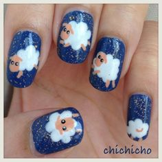 Video: Insomnia? Count the sheep! Sheep Nail Art Tutorial | chichicho~ nail art addicts