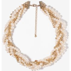 FOREVER 21 Twisted Rhinestone Necklace ($8.80) ❤ liked on Polyvore