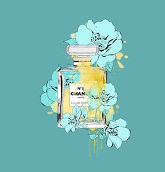 Minty Blooming Love,inspiring by Chanel Art Print by Flowerstyle