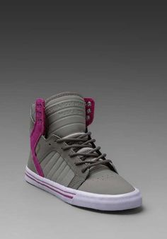 5866f8f8eefa Supra Skytop Sneaker in Grey Purple