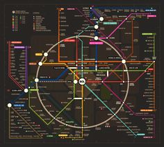 A design profesor, Javier Noguerol has made an alternative Madrid subway illustration.