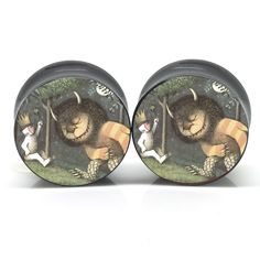 The logo is featured on one side of plugs that are made from the material of your choice.These plugs are handmade by us! We try our hardest to make them perfect and awesome as much as we can. These pl