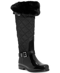 MICHAEL Michael Kors Fulton Quilted Rain Boots. Love these....they are so much nicer than the picture