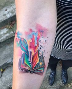 Exceptional Book Tattoo Ideas tattoo designs ideas männer männer ideen old school quotes sketches Neue Tattoos, Body Art Tattoos, Small Tattoos, Small Colorful Tattoos, Tattoo Girls, Girl Tattoos, Tatoos, Saying Tattoos, Sailor Tattoos