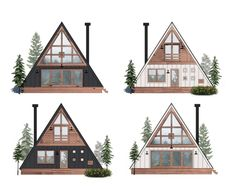The Ayfraym A Frame Cabins Are Vacay Inspired Dlmag Ayfraym A Frame House Or Cabin Plans Kits Everywhere A Fra. Cabin Design, Roof Design, House Design, Cabine Diy, Diy Cabin, Cabin Ideas, A Frame House Plans, Bohinj, Kabine