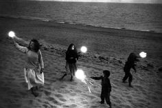Robert Frank,Untitled (Mary and Children with Sparklers)  - ca. 1950s