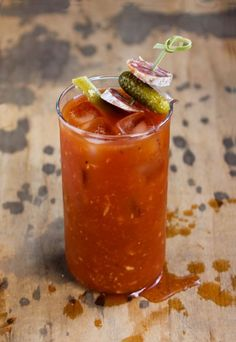 The Dirty Mary: Made with pickle-infused vodka and garnished with savory salumi. (It's like a regular bloody mary but dirtier.)