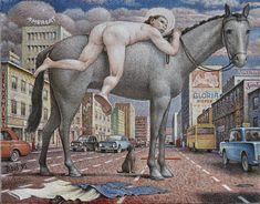 Auseklis BAUŠKENIEKS | Latvian | Jelgava, Latvia 1910—Riga, Latvia 2007.  I want to climb a horse, 1995