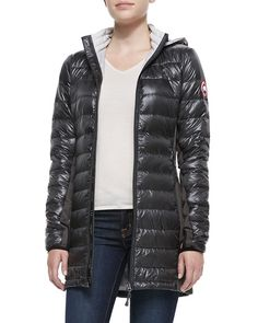 CANADA GOOSE Hybridge® Lite Hooded Coat, Redwood. #canadagoose #cloth #