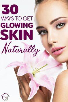 30 Best Natural Ingredients For Glowing Skin That Really Work Natural Beauty Tips, Diy Beauty, Beauty Hacks, Homemade Beauty, Aloe Vera Skin Care, Aloe Vera Gel, Jojoba Oil, Argan Oil, Shea Butter