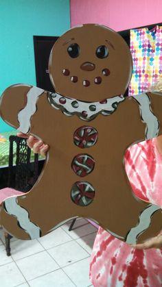 Gingerbread man door hanger