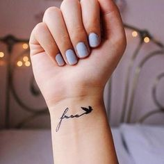 "This set includes 2pcs small ""Free"" with bird tattooColor: Black Size: 4cm x 1.5cm Each set of temporary tattoo comes with detailed instruction"
