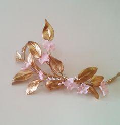 Tiaras y Tocados : Rosa Nude y Oro