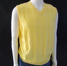 New T.Harris London Men Preppy Golf Sweater Vest Yellow Cotton Rayon Sz M Italy  in Clothing, Shoes & Accessories, Men's Clothing, Sweaters | eBay