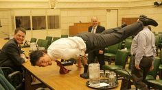 Canada's Justin Trudeau - A world leader needs good upper-body strength.