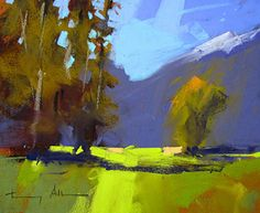 Towards Fairlie, NZ by Tony Allain Pastel ~ 9 x 12