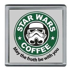 Star Wars Stormtrooper Parody Starbucks Coffee Mug Coaster 4 X 4 Inches @ niftywarehouse.com #NiftyWarehouse #Geek #Products #StarWars #Movies #Film