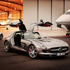 Sweet shot of SLS AMG