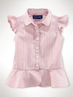Striped Victorian Blouse - Infant Girls Tops - RalphLauren.com