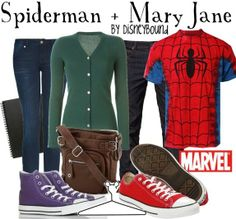 DisneyBound Marvel | Spiderman and Mary Jane marvel | Disney Bound | Nerd Clothes