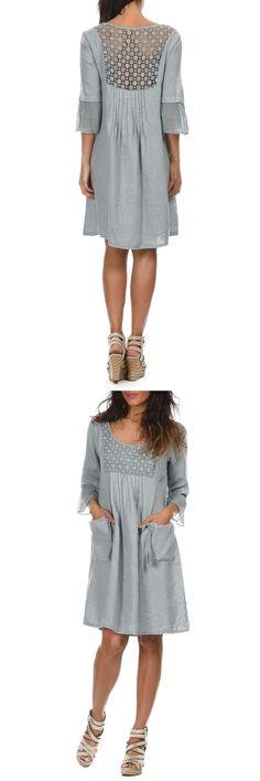 Купить Платье LIN BLANC CORALY_BLEUGRIS_ROBE GRAY со скидкой в интернет-магазине kupivip.ru - распродажа