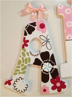HandPainted Nursery Letters Cocalo Taffy by RachelRaeDesigns, $18.00