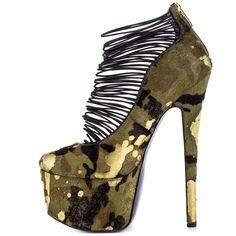 Designer Clothes, Shoes & Bags for Women Camo High Heels, Platform High Heels, High Heel Boots, Heeled Boots, Shoe Boots, Hot Shoes, Shoes Heels, Sexy Heels, Galaxy Shoes