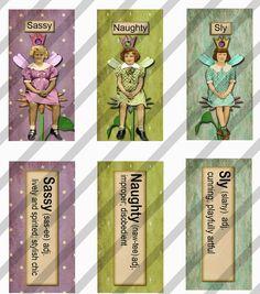 Digital Collage Sheet Meaningful Fairies 2 by lisasalteredart