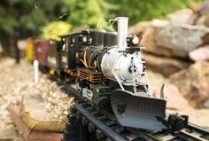 David Wood's garden railroad
