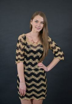 Cleopatra Handmade Crochet Dress Unique Design